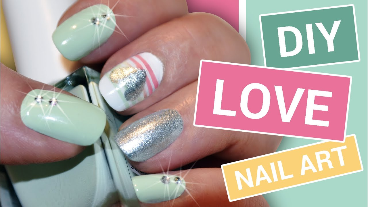 Diy Love Nail Art Hack Scotch Tape Nail Art Tutorial To Paint