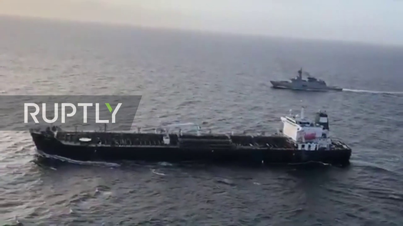 International Waters: Iranian oil tanker met by Venezuelan navy escort