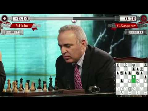 Garry Kasparov Vs Yoshiharu Habu Game 2 Rapid Tokyo Chess Exhibition 2014