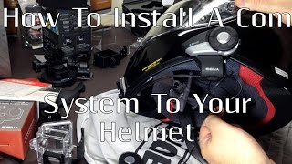 how to install a sena 20s or smh10 to your shoei rf1200 or other motorcycle helmet