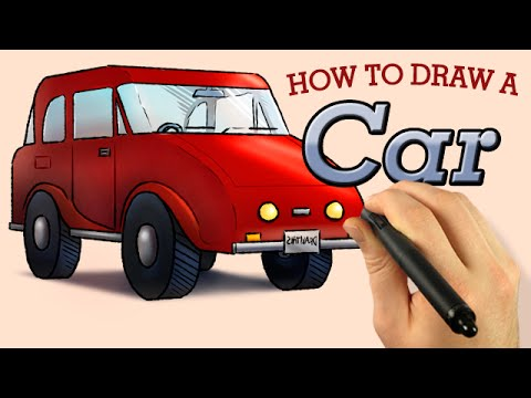 how to draw a car in 2 point perspective