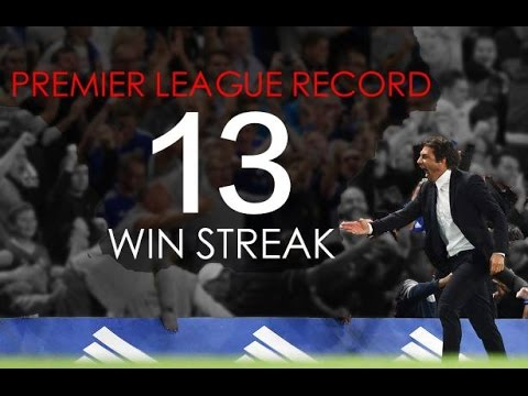 Conte`s Chelsea FC - Amazing 13 Games Win Streak - Premier League Record - HD