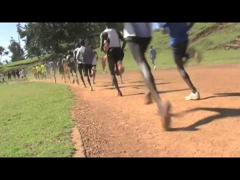 Rasmus running with the hard core Kenyan runners