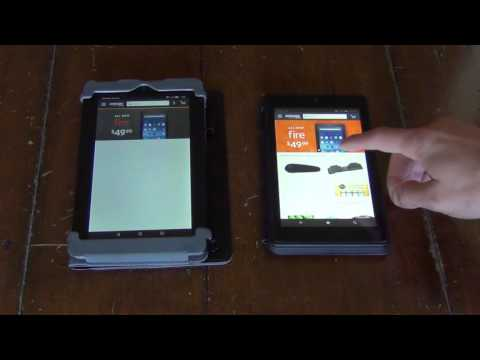 Amazon Fire Tablet (5th gen) Vs Fire HD6 - Speed Test!