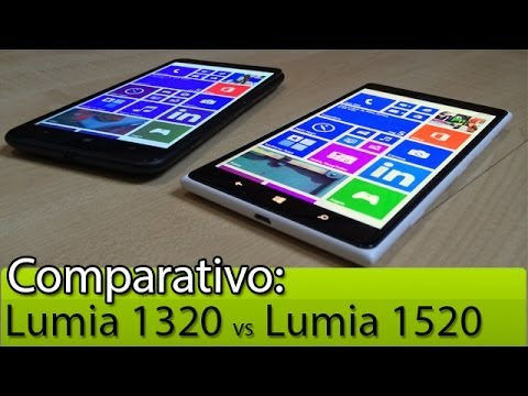 Comparativo: Lumia 1320 vs Lumia 1520   Tudocelular.com