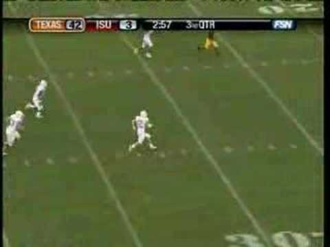 Colt McCoy 44 Yard TD run vs. ISU