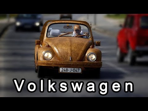 Wooden Car Made By Volkswagen