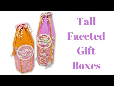 Tall Faceted Gift Boxes | Mixed Up Craft