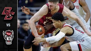 Boston College vs. NC State Basketball Highlights (2018-19)