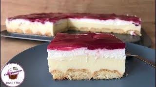 FIRINSIZ YAZ Pastası || Vişne Soslu Pudingli Hafif Pasta