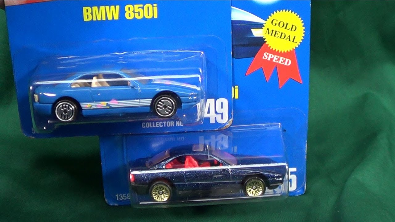 Hot Wheels Bmw 850i All Blue Card 149 From 1991 Youtube