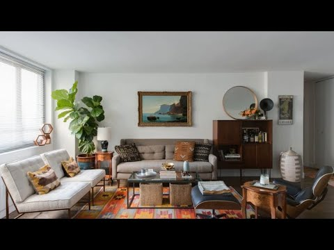 eclectic mid century apartment new york