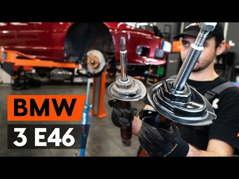 How to replace a front shock strut on BMW 3 (E46) [TUTORIAL AUTODOC]