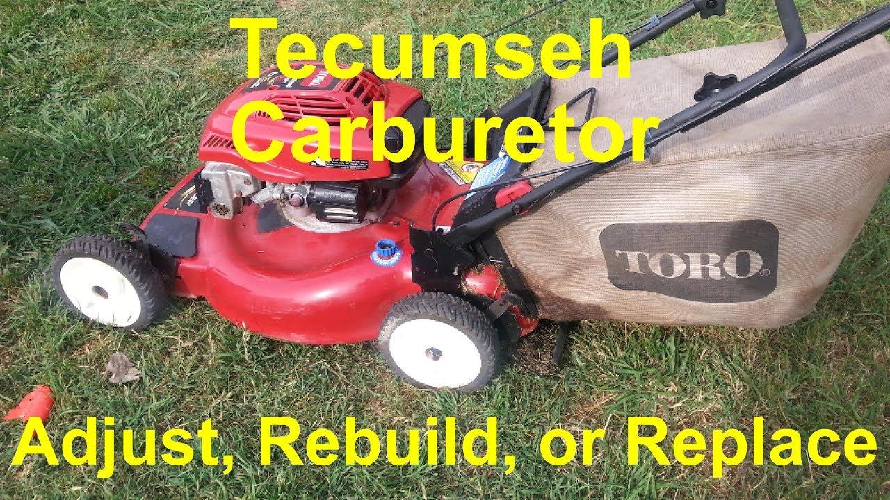 Tecumseh Carburetor Adjustment And Replacement Youtube