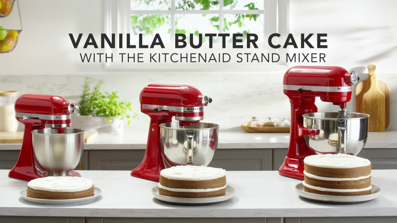Vanilla Butter Cake Recipe With The Kitchenaid Stand Mixer Youtube