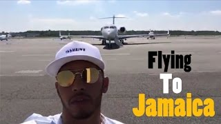 Flying to Jamaica From NYC! | Lewis Hamilton Snapchat Vlog