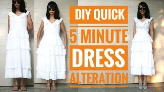 DIY: QUICK 5-MIN. DRESS ALTERATION | How to Make Your Clothes Fit Right