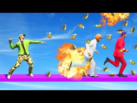 1,000,000 GRENADES vs. RUNNERS CHALLENGE! (GTA 5 Funny Moments)
