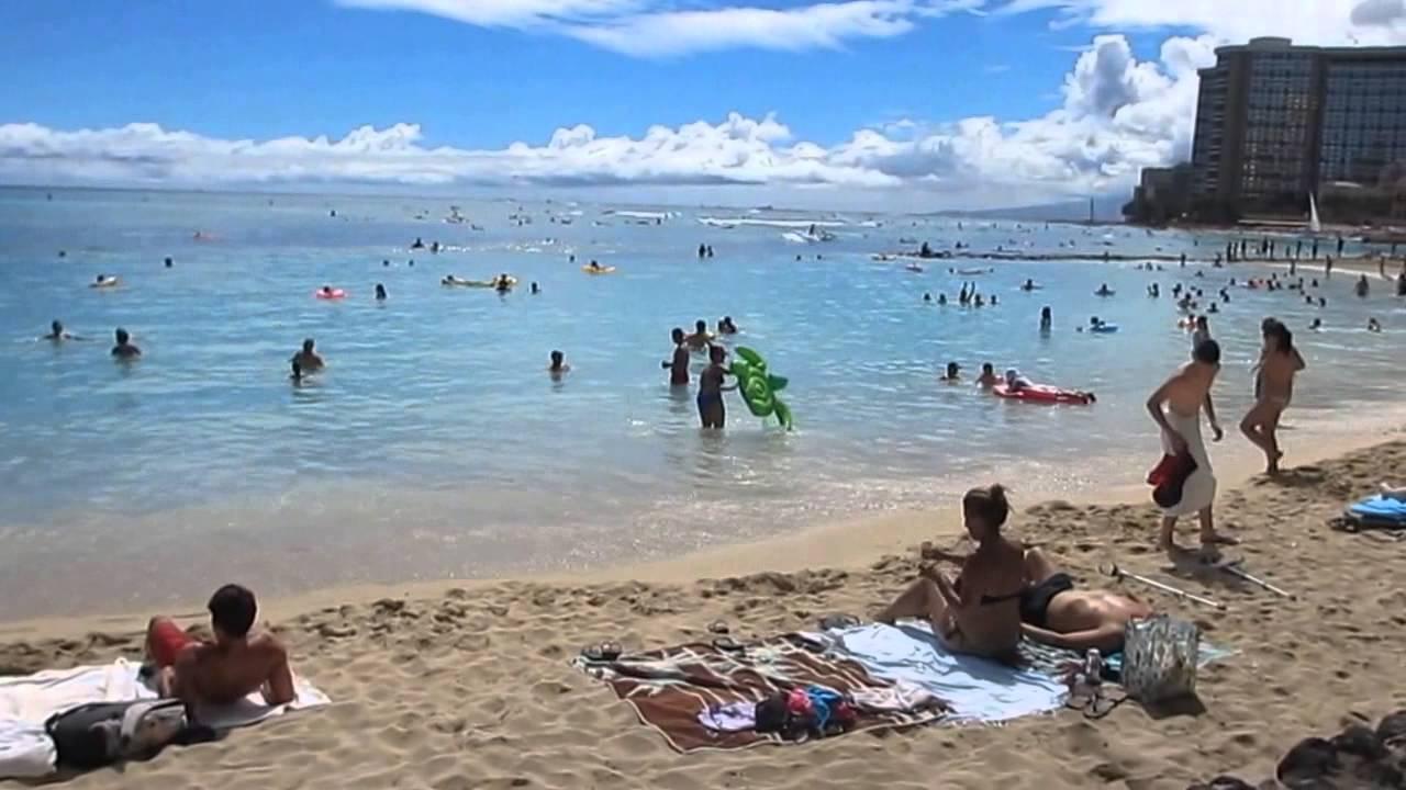Waikiki Beach Honolulu Oahu Hawaii July 2017