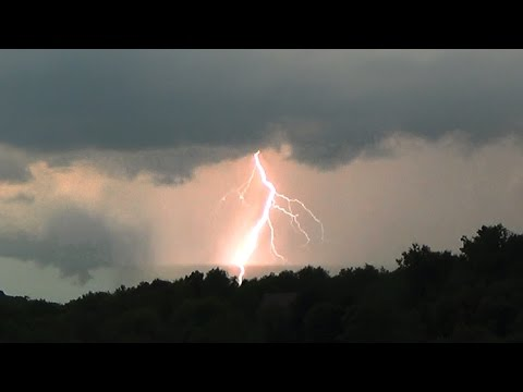 Beautiful Sunset Lightning Barrage! - 9-4-2015