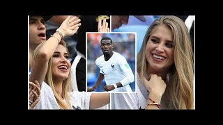Paul Pogba girlfriend: Maria Salaues leads WAGs cheering on France in game against Uruguay