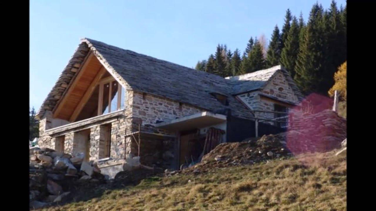 Valle vigezzo baita in fase di ristrutturazione youtube for Foto interni baite di montagna