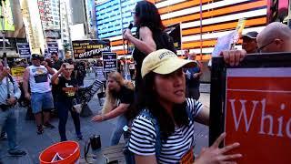 PRO-TRUMP /  ANTI-TRUMP /  REFUSE  FASCISM  RALLIES  NYC (2)