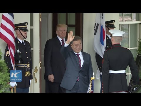 Trump welcomes South Korean President Moon Jae-in, suggests meeting with Kim Jong Un may be delayed
