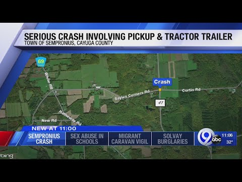 Serious crash in Cayuga County