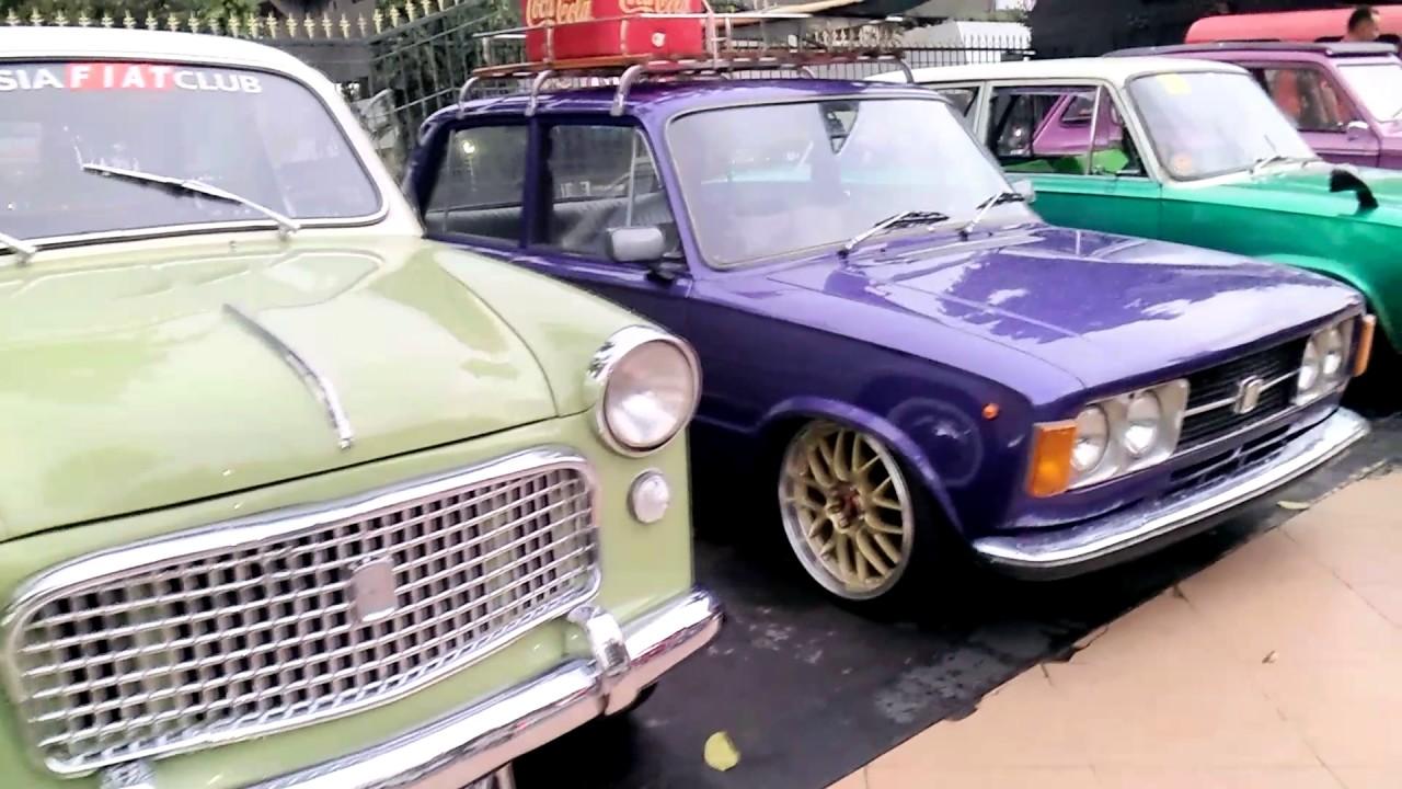 Red Car Community Indonesia VS Semarang Fiat club - YouTube