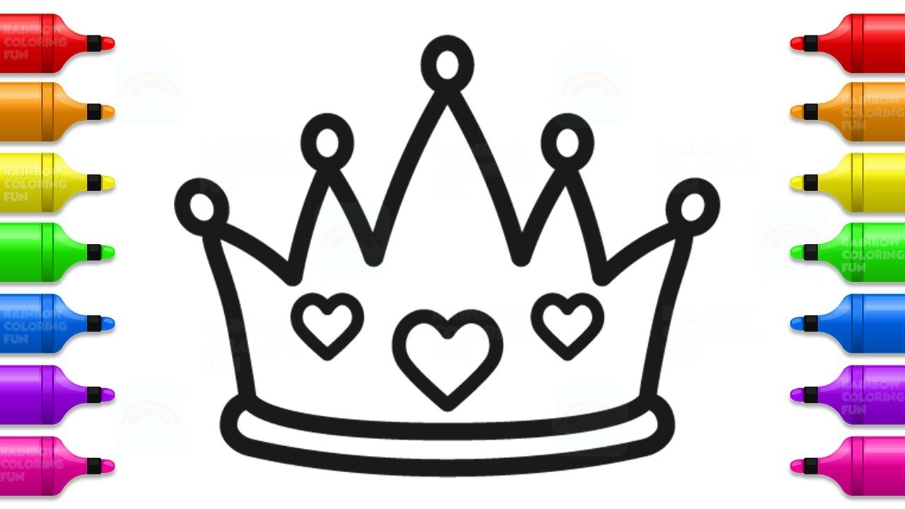 How to Draw Baby Princess Crown | Cute Coloring Book for ...