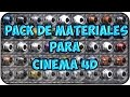 Pack De Materiales Para Cinema 4D (Cualquier Version)