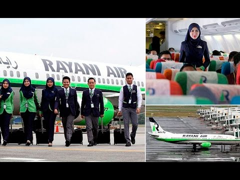 Ryani air (Malayasia) ,the First Sharia airline | Female staff in Hijabs and no Alcohol
