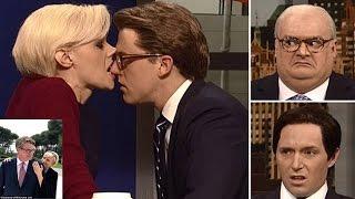 SNL Saturday Night Live spoofs Joe Scarborough and Mika Brzezinski 's engagement with Morning Joe