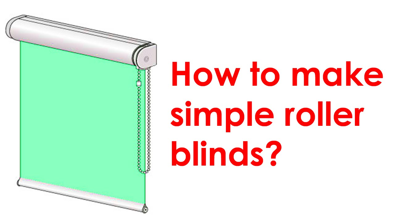 How To Make A Roller Blind Youtube