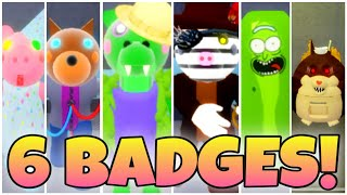 How to get ALL 6 BADGES + MORPHS in ACCURATE PIGGY ROLEPLAY (TenuousFlea) - ROBLOX