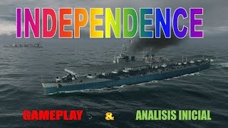 World of warships - Portaviones Independence gameplay y analisis T6 USA