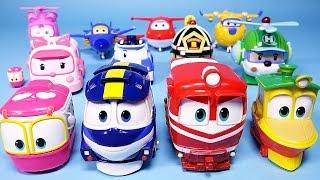 4 로봇트레인 RT 로보카폴리 슈퍼윙스 장난감 4Robot Trains, Robocar Poli, Super Wings