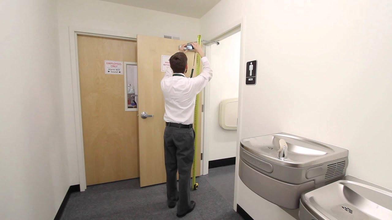Ada Bathroom Door Opening door opening vertical clearance 307.4 (2010 ada standards) - youtube