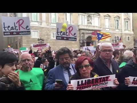 Manifestación en la Plaza de Sant Jaume de Barcelona