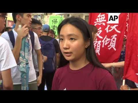 Demo protests jailing of Hong Kong pro-democracy leaders