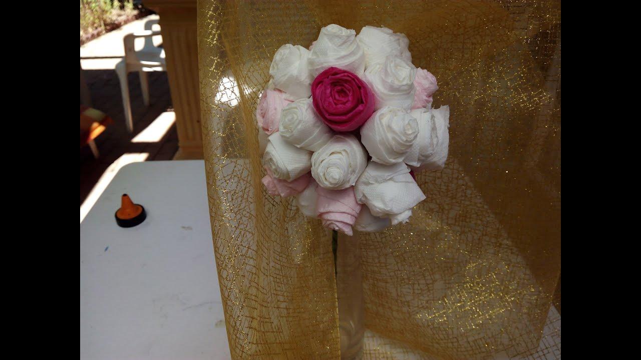 Diy como hacer adorno floral para bodas con papel - Como hacer cadenetas de papel para fiestas ...