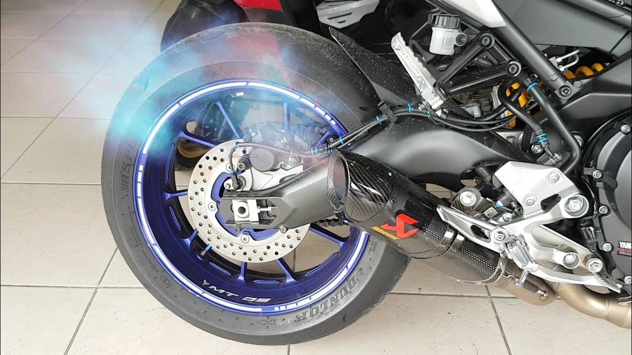 yamaha mt 09 akrapovic full system exhaust epic sound medina motors