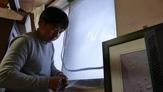 겨울철 방풍비닐설치하기 창문에 테이프 대충~ 붙이기 방…