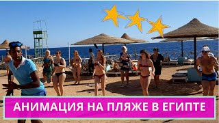 Coral Beach Resort Tiran 4 анимация на пляже в Египте