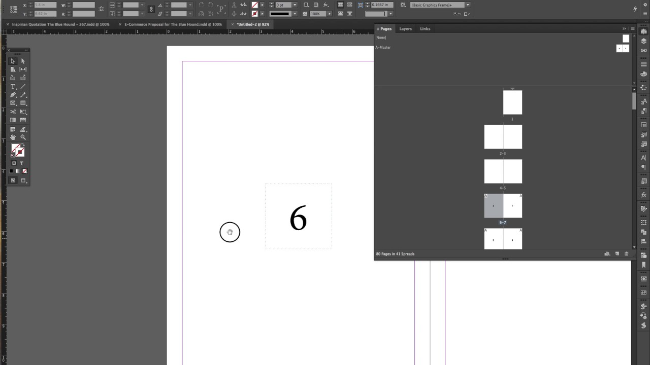 InDesign Customized Start Page Numbering