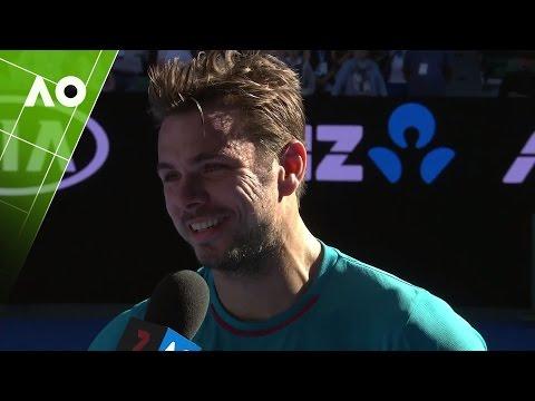 Stan Wawrinka on court interview (QF) | Australian Open 2017