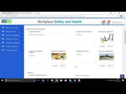 NEO EHS (Occupational Health and Safety System) Video tutorial - Incident Management Module