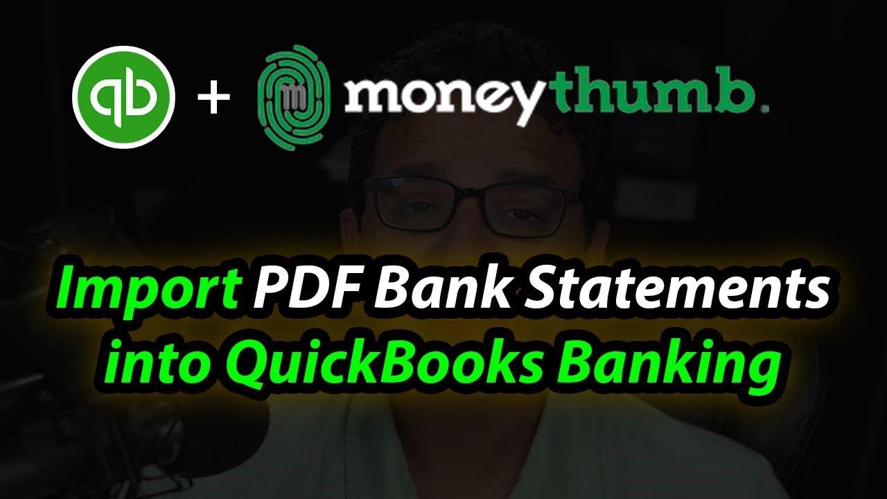 Importing PDF Bank & Credit Card Statements into QuickBooks! (PDF2QBO)