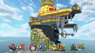 "The King (ArcanaXIII) vs Donkey ""DK"" Kong (Nemlim) vs Pesky Plumber (Boom) vs The Riddler (Sky)"